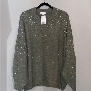 H&M pearl sweater